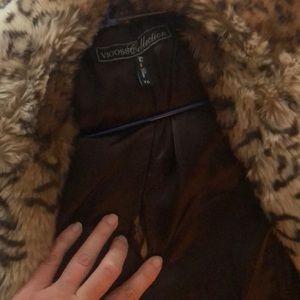 Vigoss Jackets & Coats - Faux fur leopard jacket